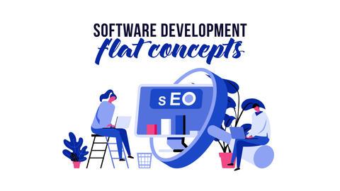 Software development - Flat Concept After Effects Template