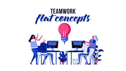 Teamwork - Flat Concept After Effects Template