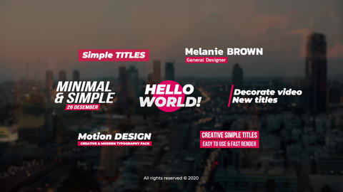 Simple Titles Apple Motion Template