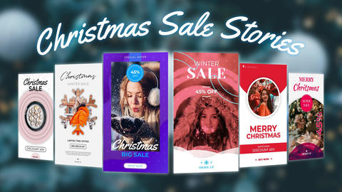 Christmas Sale Stories After Effects Template