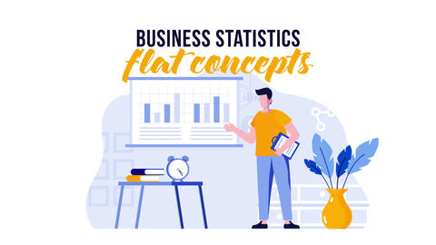 Business statistics - Flat concept After Effects Template