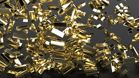 3d gold bars Concept finance business investment success Expensive Treasures Animation