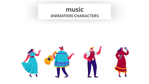 Music - Character Set After Effects Template