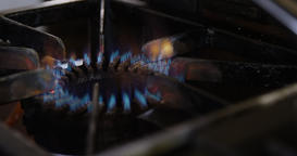 Close-up of gas burner Footage
