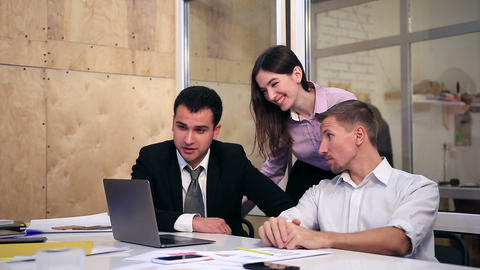 Group of business people on video conference Footage