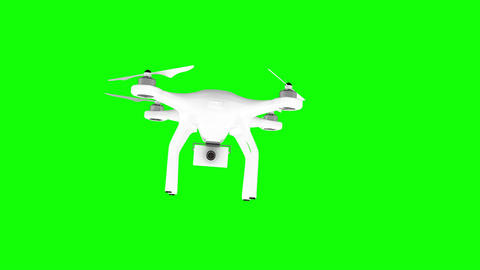 Digitally generated image of drone with camera Animation