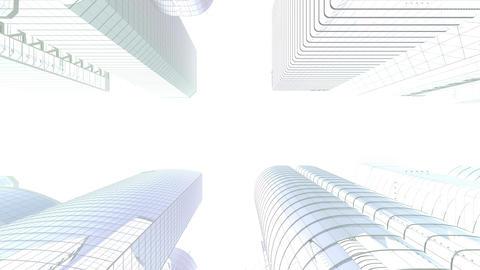 Skyscraper 2 Bg1 white 4k Animation
