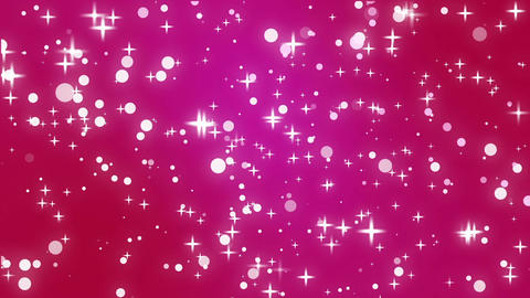 Sparkly stars and light particles moving across a purple pink background Animation
