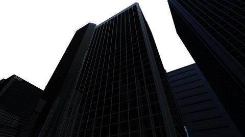 Skyscraper 2 Db1 white 4k Animation