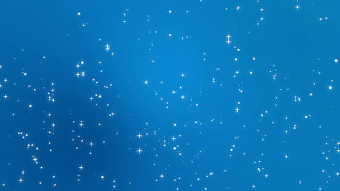 Star light particles falling down against a blue gradient background Animation