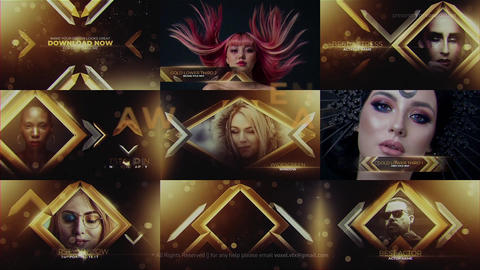 Gold Awards Package After Effects Template