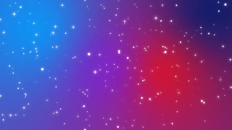 Sparkly light particles moving across a red purple blue gradient background Animation
