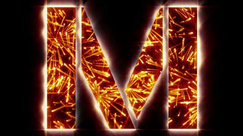 Xmas Orange fireworks Animation