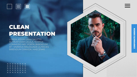 Clean Presentation After Effects Template