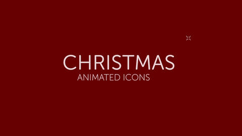 Animated Christmas Icon Pack After Effects Template