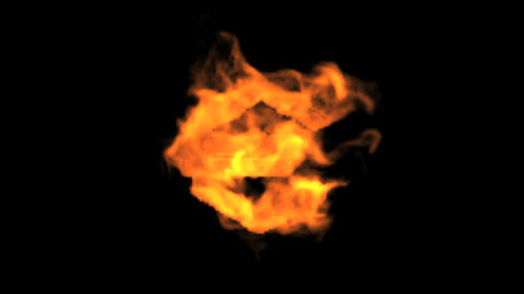 Euro symbol,fire Animation