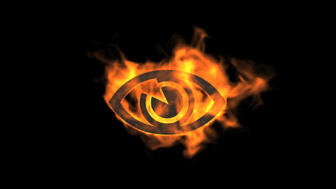 eye sign,fire Animation