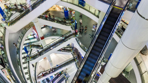 1080p - Shopping Mall Timelapse Stock Video Footage