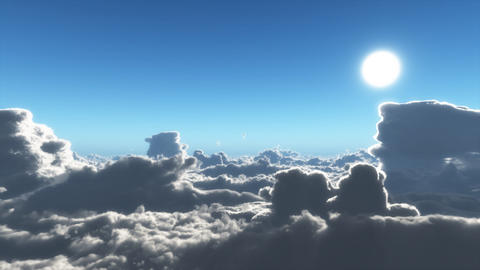 Clouds Fly By Animation