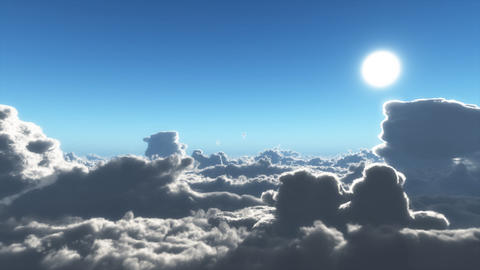 Clouds Fly By Stock Video Footage