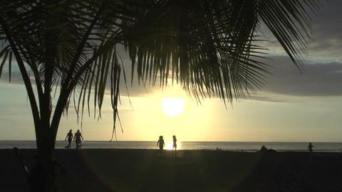 Jaco beach sunset 01 Stock Video Footage