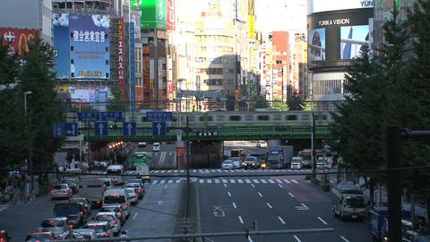 Shinjuku crossroad day Stock Video Footage
