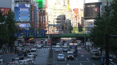 Shinjuku crossroad day Footage