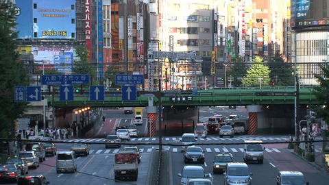 Shinjuku crossroad day 03 sound Stock Video Footage
