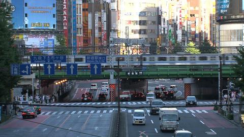 Shinjuku crossroad day 03 sound Stock Video Footage