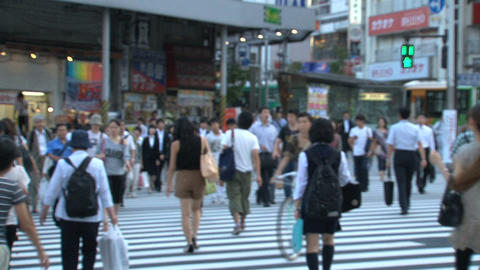 Shinjuku crossroad people day 02 Stock Video Footage