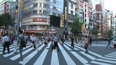 Shinjuku crossroad people day 04 Stock Video Footage