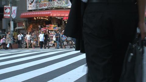 Shinjuku crossroad people day 06 Stock Video Footage
