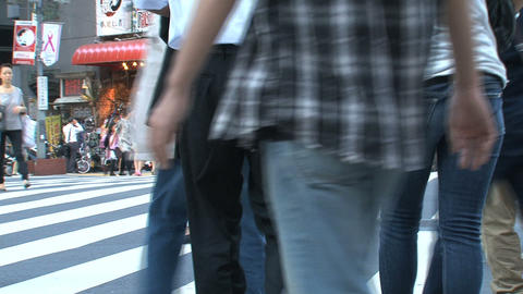 Shinjuku crossroad people day 06 Stock Video Footage