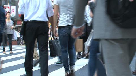 Shinjuku crossroad people day 06 Footage