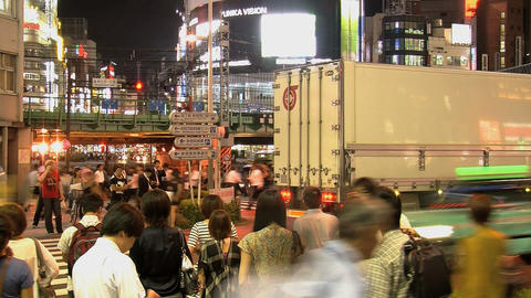 shinjuku people night Stock Video Footage