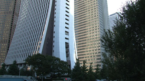 Shinjuku Skyscrapers tilt Stock Video Footage