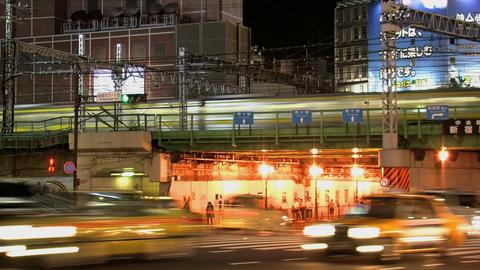 shinjuku traffic night Footage