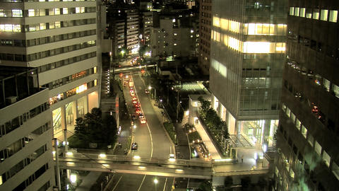 shinjuku traffic night Footage
