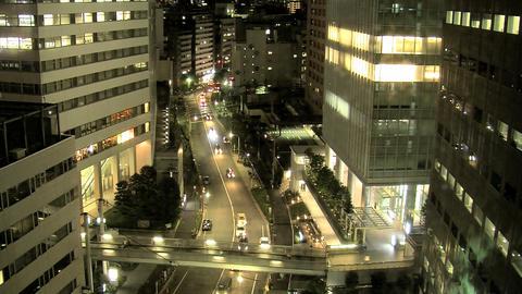 shinjuku traffic night Stock Video Footage