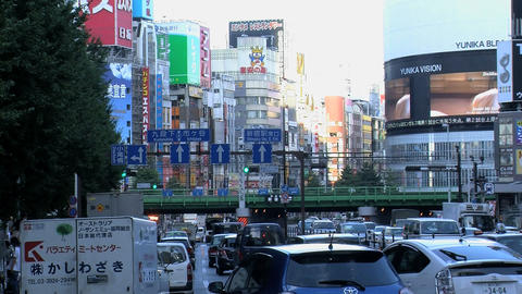 shinjuku traffic slide Stock Video Footage