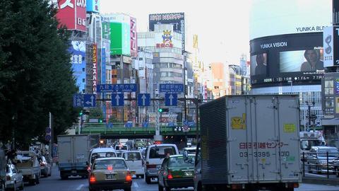 shinjuku traffic slide Footage
