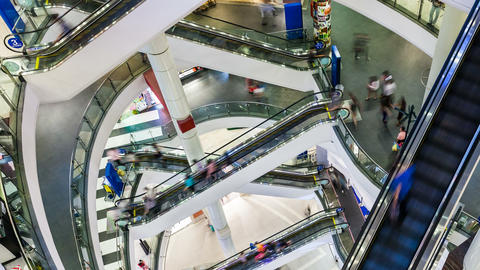 4K - PEOPLE SHOPPING MALL TIME-LAPSE Stock Video Footage