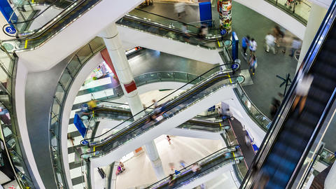 4K - PEOPLE SHOPPING MALL TIME-LAPSE Footage