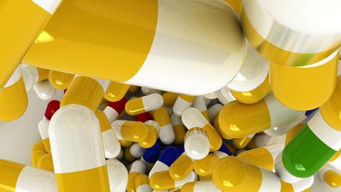 pills Top Stock Video Footage