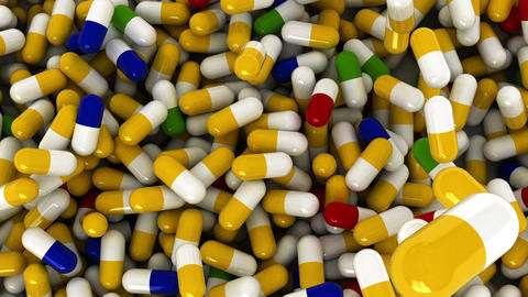 pills Top Stock Video Footage