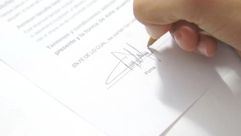 Signing an Agreement Stock Video Footage