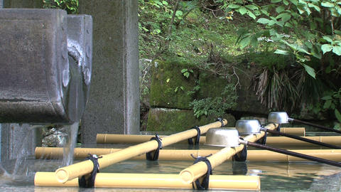 Holy Water shrine Nikko Footage