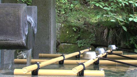 Holy Water shrine Nikko Stock Video Footage