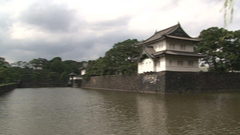 Imperial palace tokyo pan Footage