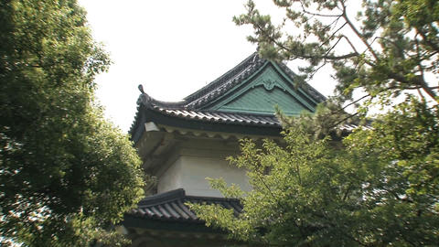 Imperial palace tokyo zoomout Stock Video Footage